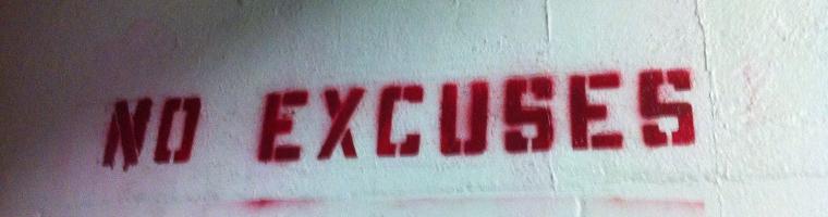 lasciare andare scuse