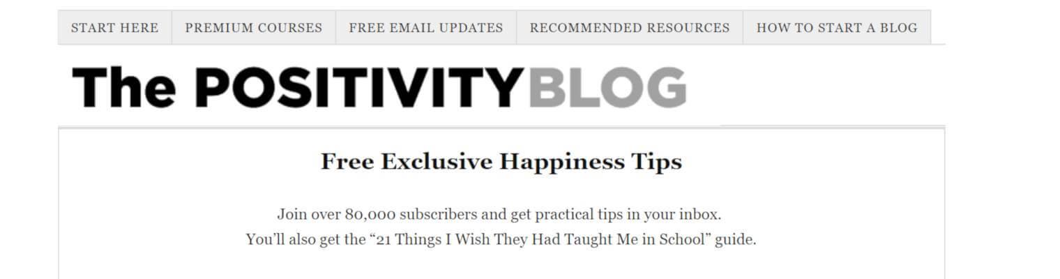 migliori blog crescita personale The positivity Blog