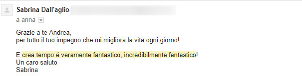 Testimonianza Sabrina Dall'aglio
