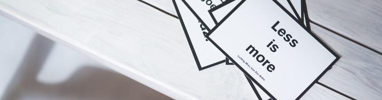 minimalismo digitale: meno è meglio