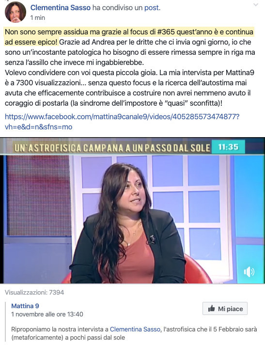 Testimonianza Clementina Sasso