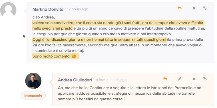 testimonianza Martino