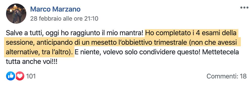 Testimonianza Marco Marzano